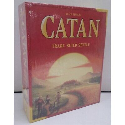 Klaus Teuber's Catan Trade Build Settle Board Game 3-4 Players Ages 10+ NEW