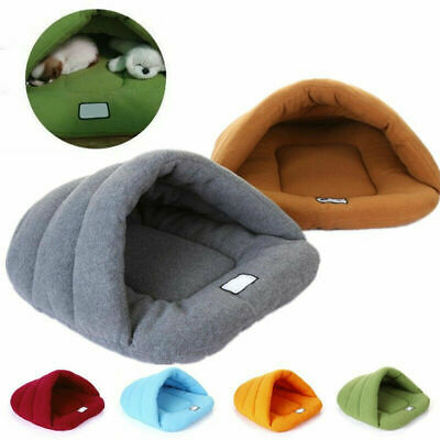 Puppy Pet Cat Dog Soft Nest Kennel Bed Cave House Sleeping Warm Mat Pad Tent Bag