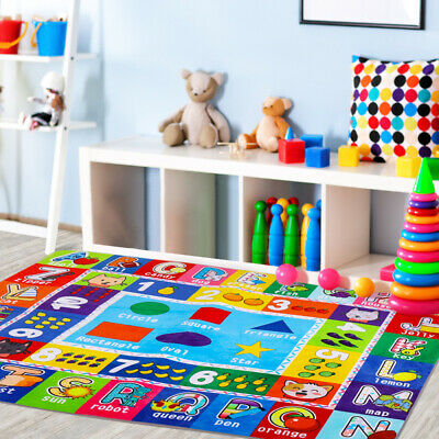Childrens Baby Play Mat Crawling Soft Rug Fun Educational Bedroom Nursery Carpet