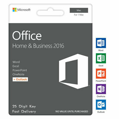 Office 2016 Home & Business License Key MAC