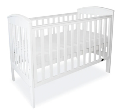 Babyhood Classic Curve Cot - White free postage