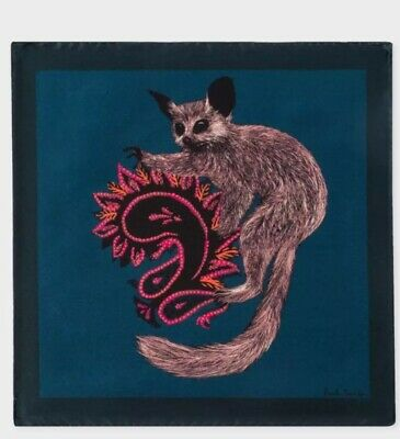 NEW Paul Smith Pocket Square Handkerchief  Petro Galago 100% Silk
