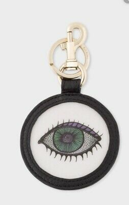 NEW Paul Smith Key LEATHER, EYE MOTIF LENTICULAR KEYRING
