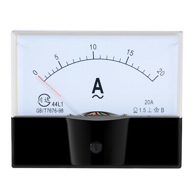 AC 0-20A Analog Panel Ammeter Gauge Ampere Current Meter 44L1 1.5 Error Margin