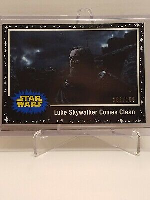 Star Wars Journey To The Rise Of Skywalker Card #85 Black Parallel #191 /199