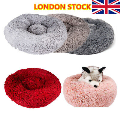 Dog Pet Cat Calming Bed Beds Large Mat Comfy Puppy Washable-Fluffy Cushion Plush