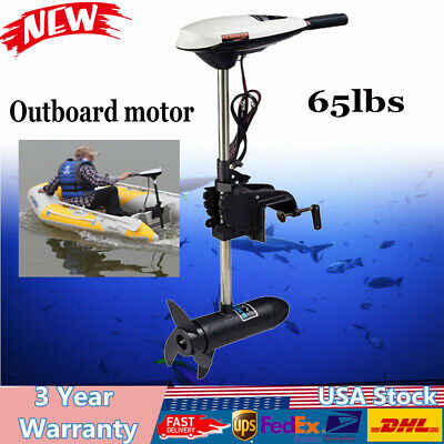 Electric Outboard motor Boat Trolling Motor 65lbs Outboard Engine Saltwater USA