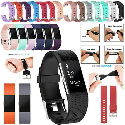 For Fitbit Charge 2 Strap Sports Wrist Band Silicone Replacement Watchband