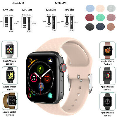 For Apple Watch Series 5/4/3/2 38/44 Sport Replacement Silicone Wrist Band Strap