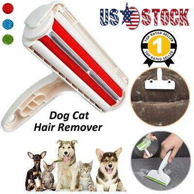 Pet Hair Remover Reusable Dog Cat Fur Roller Sofa Clothes Lint Cleaning Brush US