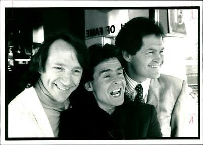 Vintage photograph of Monkees Pop Group: Peter Tork, Davy Jones & Micky Dole