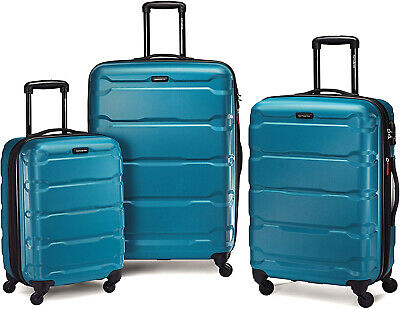 Samsonite Omni PC Hardside Luggage, Caribbean Blue, 3-Piece Set