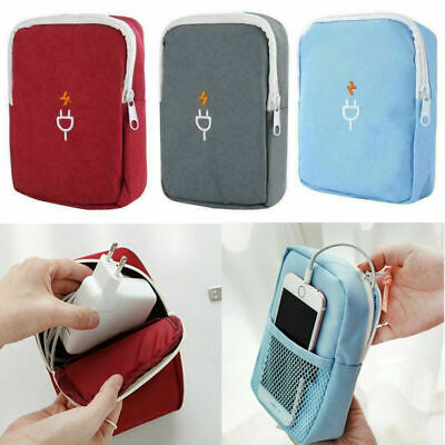 Travel Cable Cord Organizer Electronics Accessories Bag USB Drive Case Pouch 1pc