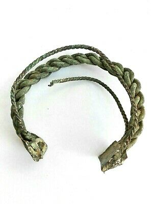 Ancient Roman Bronze Bracelet Rare Very Beautiful Original Antique Authentic Old