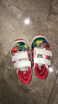 Girls Kids Adidas Trainers Size UK 5 1/2 K Shoes Outerwear Multicoloured Toddler