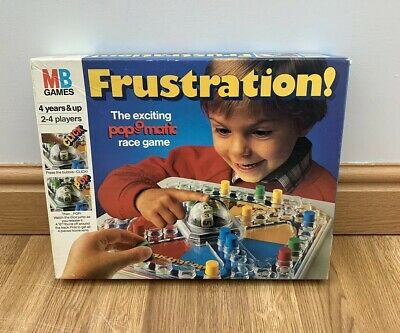 Frustration Board Game Pop O Matic MB Games Vintage Family Fun