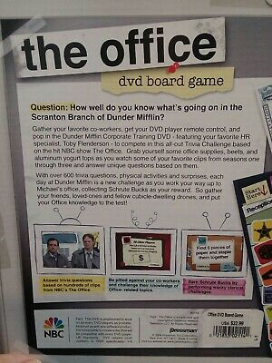 The Office DVD Trivia Board Game Pressman 2008 NBC - Complete in Box