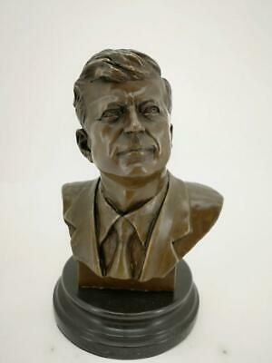 Bronze Bust Sculpture of John F Kennedy - 35th President of the USA - JFK
