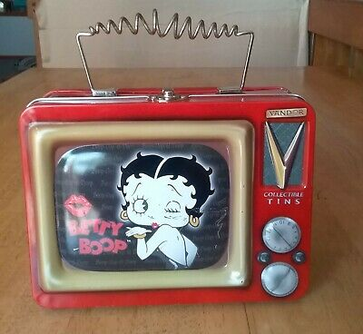 1999 Betty Boop Vandor Collectible Television Lunch Box Style Tin