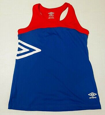 Girls Umbro Sports Active Wear Red and Blue Tank Top