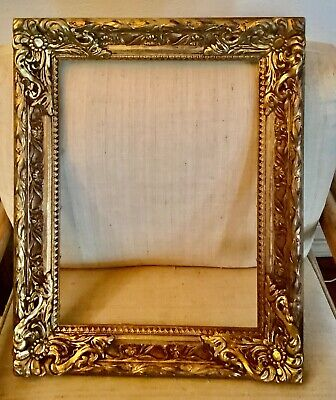 VINTAGE GILT gold  ornate CARVED FRAME FOR picture or PAINTING  16 X 20 INCH