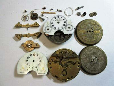 JOB LOT OF ANTIQUE POCKET WATCH PARTS FOR WATCHMAKER, steampunk - Lot 1!!