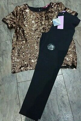 Girls Top And Leggings Set age 12-13 Years NWT