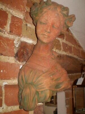 Architectural Salvage,Vintage French Lady wall hanging Garden statue,stunning