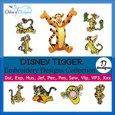 Tigger Collection Machine Embroidery Designs On Cd Or Usb Pes Jef Hus
