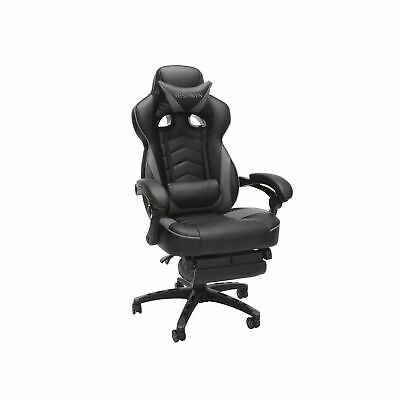 Respawn Gaming Chair Reclining Ergonomic Leather Footrest Gray RSP 110 GRY New