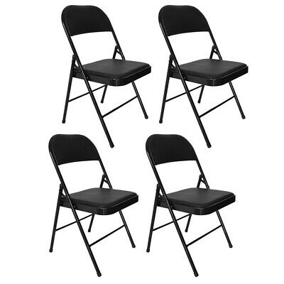 Folding Chairs Commercial Wedding Party Restaurant Stackable PU Soft Backrest