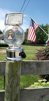 Ford Globe 10 Cent Gumball Machine Vintage Collectable From 1950s