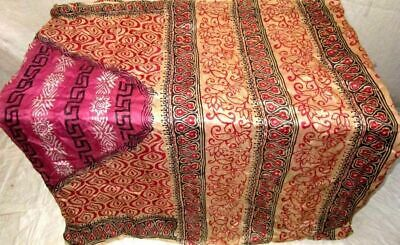 Rani Cream Pure Silk 4 yd Vintage Sari Saree Hot Selling Pretty Designs #6E6R5