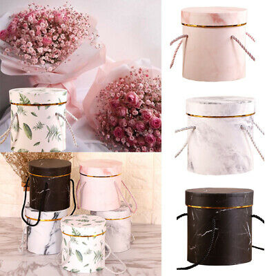 Flower Plant Boxes Living Vases Florist Round Handheld Type Bouquet Flower Box