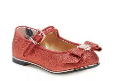 Baker By Ted Baker Girls Glitter Pump Shoes Red Size 6 Toddler Bnwt
