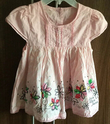Beautiful Girls Guess Pink Calvin Klein Cotton Dress Size Age 3 Years Old
