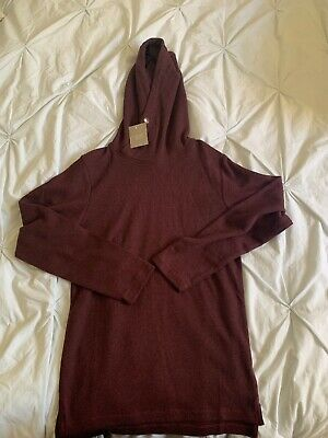 Boys NEXT Hooded Long sleeve Top, In Berry, Age 9 Years. BNWT