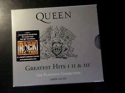 Cd Triple Album - Queen - The Platinum Collection - Greatest Hits 1 - 2 & 3