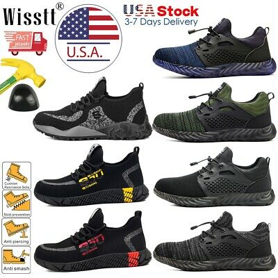 Men Safety Shoes Steel Toe Work Boots Indestructible Lightweight Hiking Sneakers