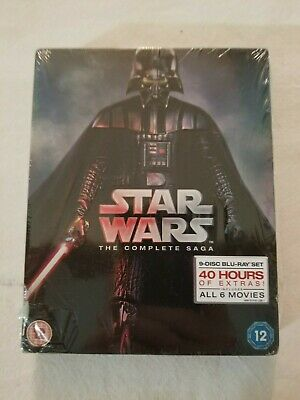 Star Wars - The Complete Saga [9 Disc Blu-ray Set] [Region Free] - NEW