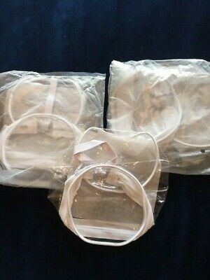 "3 X New Clear Plastic Zip Top Holiday Travel Toiletry Party Bags (7"" X 5"")"