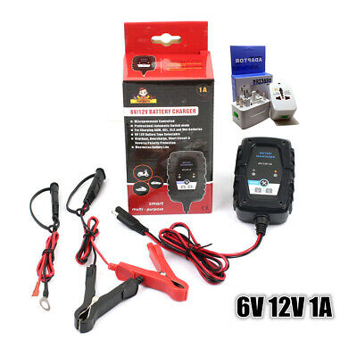 6V/12V Auto Smart Battery Charger Optimiser AGM SAE for Car Scooter Motorcyle