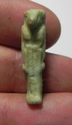 Zurqieh -As16194- Ancient Egypt , Faience Thoth Amulet. 600 - 300 B.c