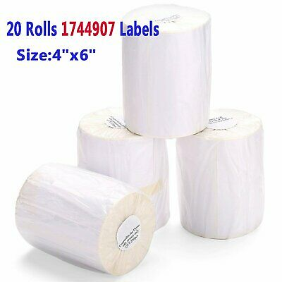 1744907 4x6 Direct Thermal Shipping Labels Compatible Dymo 4XL 220/Roll 20 Rolls