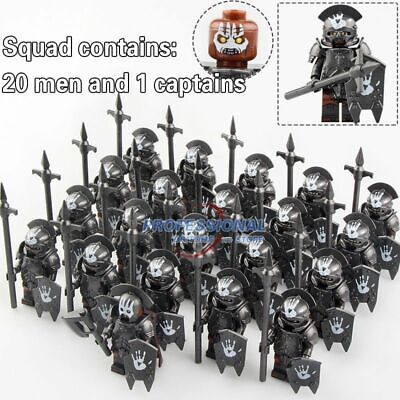 21PCS Lord of the Rings Action Orc Soldier Military Mini figure Building Blocks