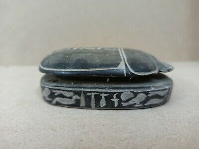 Egyptian Ancient Civilization Statue scarab Stone Old Kingdom Vintage sculpture
