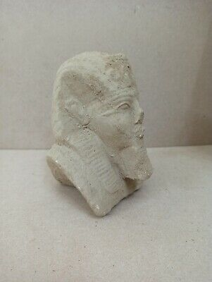 Egyptian Ancient Civilization Statue  Pharaoh Bust Old Kingdom Vintage sculpture