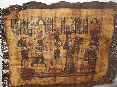 Rare Antique Ancient Egyptian Papyrus 3Gods Seth Horus Amun Kg Ramses1279–1213BC