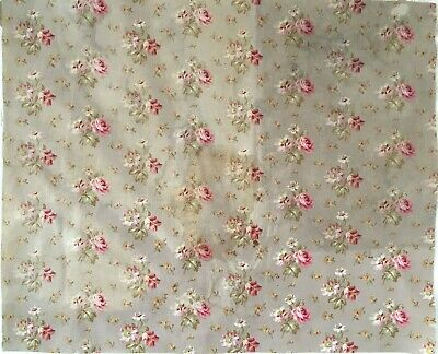 Antique Beautiful 19th C. French Printed Floral Fabric (2960)