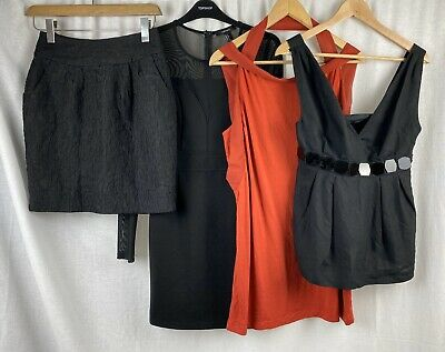 4x Womens Clothing Job Lot Bundle Dress Top French Connection Forever 21 UK S-M